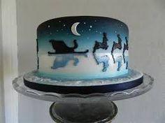 Image result for airbrush nativity cake