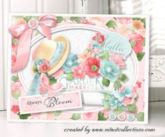 A beautiful Spring or Summer card making idea!  This soft feeling floral or cottage chic card would be the perfect card for so many occasions...what do you see it for??  Card created using Idyllic Collection from Nitwit Collections™