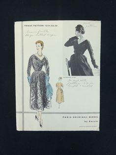 Vogue Paris Original 1234, Desses, ca 1953
