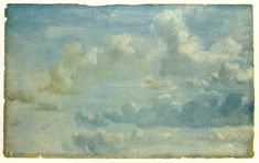 yama-bato:  once again… John Constable: Cloud Study, 1822 Courtauld Institute Galleries, London