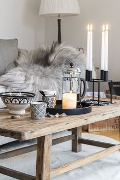 Amalie loves Denmark - living room in autumn and gray knit blanket - Home & Living - Living Room Modern, My Living Room, Home And Living, Living Room Decor, Room Inspiration, Interior Inspiration, Scandinavian Living, Nordic Living, Decoration Table