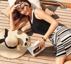 Cabi classic stripe Grandstand skirt with black Iris tank!  Shop 24/7 @ deborahlkolb.cabionline.com