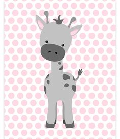 Jirafa vivero arte arte del zoológico bebé niña Zoo vivero