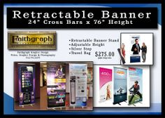 EASY UP BANNER STAND  HORIZONTAL BANNER
