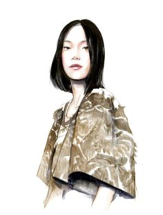 Illustration.Files: Chloé S/S 2015 Fashion Illustration by Caroline Andrieu