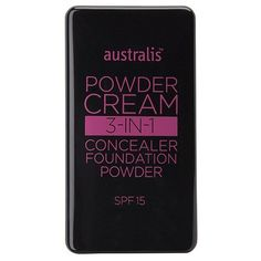 Australis Powder Cream Make-Up Nude Beige. Powder cream make-up. A light to full coverage foundation powder that brightens and illuminates the skin for an effortlessly, radiant complexion. It contains vitamin c and mulberry extract which brightens skin and repairs sun and envoronmental damage, avocado oil which protects the skin and keeps it hydrated and mica which reflects light for an airbrushed look.