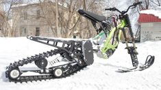 Snowbike kit for the Surron X electric motorcycle from SNOWBIKE LLC. No equivalent in the world. Easy to install on the Surron family of motorcycles. No special skills or tools required. The kit turns the Surron into a lightweight snowmobile. You will be able to use your Surron in winter on snow up to 50 cm deep. Get new emotions from your bike. Military Vehicles, Bike, World, Motorcycles, Electric, Snow, Deep, Winter, Easy