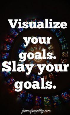 Visualize your goals--loving idea #2! #WMWeek17