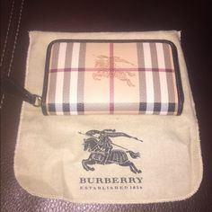 Burberry wallet New Final Price ❗️New with tags! 100% Authentic Burberry Wallet! Still in dust bag as well! Burberry Bags