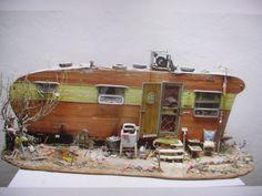 Scale trailer in a diorama setting