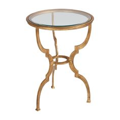 """Belle Table - Ethan Allen USAlso available in silver finish 18"""" diameter x 24.5""""h  $399"""