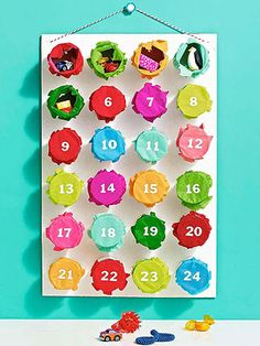 Prize Surprise! Add a dose of color and whimsy to your Christmas countdown with this punch-out Advent calendar.