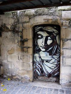 Street art in Paris by C215.