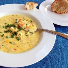 This sweet and creamy corn chowder is not only vegetarian, but also slightly lighter than usual.