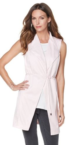 Spruce up your basic ensemble with this Giuliana Ultra Lush Sleeveless Duster! It pairs perfectly over your favorite tees, tanks and dresses! Which color option is your favorite?