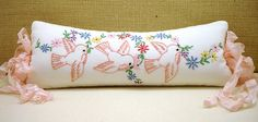 Sweet pillow from vintage linens