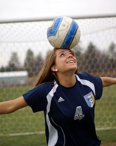 Senior pics with soccer...even my number!
