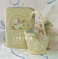 pincushion and needle book