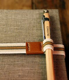 """thestationeryaddict: """" notebook straps by Delfonics """""""
