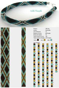 Bead Crochet Patterns, Loom Knitting Patterns, Seed Bead Patterns, Bead Crochet Rope, Beaded Jewelry Patterns, Beading Patterns, Crochet Beaded Bracelets, Crochet Necklace, Bead Jewellery