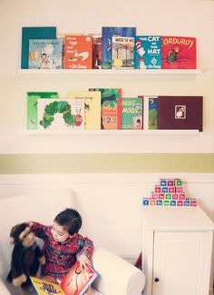 Book shelf storage, use football books Football Nursery, Storage Shelves, Shelf, Baby L, Nursery Storage, Bookshelves, Bb, Pregnancy, Room