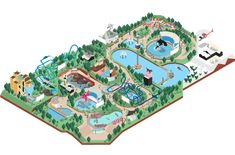 Amusement Park Isometric Map   Robert Bailey
