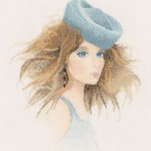 Natasha Heritage Counted Cross Stitch Kit John Clayton Elegance Collection Kit contains: 14 count aida fabric, chart, instructions John Clayton, Heritage Crafts, Barbie Accessories, Victorian Women, Winter Hairstyles, Counted Cross Stitch Kits, Le Point, Cross Stitching, Hats For Women