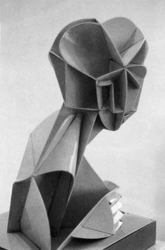 Naum Gabo  Constructed Head No.2 (conceived c.1916, this version probably executed c.1923)  Ivory Rhodoid, height 43 cm  Museum of Fine Arts, Dallas