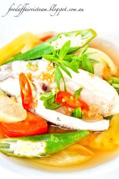 Tamarind fish soup (Canh chua ca) - A quintessential Vietnamese sour fish soup