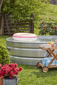 DIY Stock Tank Pool and other DIY backyard projects No Grass Backyard, Small Backyard Landscaping, Landscaping Ideas, Fun Backyard, Modern Backyard, Large Backyard, Patio Ideas, Outdoor Ideas, Oasis Backyard