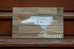 state map sign on driftwood, home state sign, driftwood sign, beach decor, nc, north carolina by Ajminteriors on Etsy