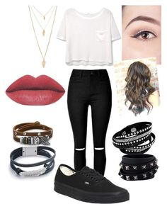 """Going Out"" by fivesostrash ❤ liked on Polyvore featuring MANGO, Vans, Forever 21, Valentino and BillyTheTree"