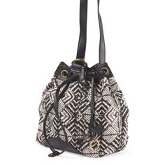 LUCKY BRAND BUCKET BAG Brand new with tags. 13in W x 8in H snap button closure, brand logo, logo charm, adjustable shoulder strap, strappy detail, contrast trim 3 interior pockets cotton/linen, trim: faux leather, lining: cotton imported Lucky Brand Bags Shoulder Bags