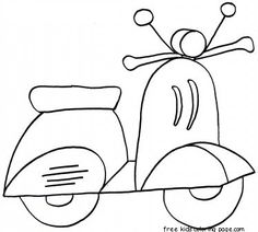 print out scooter coloring in sheets