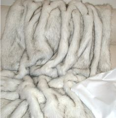 InStyle-Decor.com Beverly Hills Luxe British Designer Faux White Alaska Bear Fur Throw  Inspiring Interior Design Fans With Unique Luxury Home Decor & Gift Ideas From Hollywood Enjoy & Happy Pinning  (Not Real )