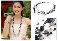Cultured pearls long necklace - Sweet Sophistication | NOVICA