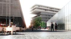 Projet d'hôtel de luxe à Bordeaux Bassin à flot ( site de l'ancienne Fourrière), Myrto VITART et Jean- Marc IBOS architectes, BMA maître d'ouvrage.