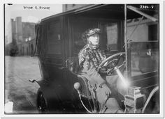 In 1915 Wilma Russey became the first woman to work as a taxi driver in New York and was an   expert garage mechanic. #WomenInAuto