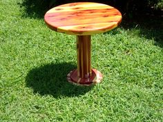 "24"" round Cedar patio Table. Perfect for sitting between your custom Cedar Rocking Chairs. $155"