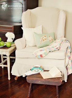 Slipcover Tutorial Series - Miss Mustard Seed     I want to make this!!!! : )