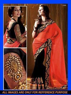 DESIGNER SAREE  INDIAN  PARTY WEAR ETHNIC BOLLYWOOD BRIDAL WEDDING SARI