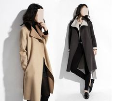 """4 Colors Two-sided Cashmere Winter Wool Coat Fabric  - 55"""" width 820g super luxury US quality - 1 yard"""
