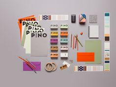 Pino branding package. A little color is everything.