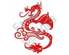 Asian Dragon  Machine Embroidery Design