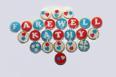 Farewell Cupcakes-Americana