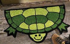 unique turtle shaped door mat