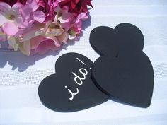 SET OF 10 Medium Chalkboard Hearts for DIY by dazzlingexpressions, $28.00
