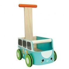 plan toys loopwagen van walker blauw 5186 | ilovespeelgoed.nl