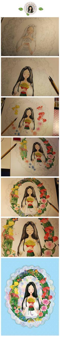 手绘 #插画# #……_来自嘉南妹子的图片分享-堆糖网