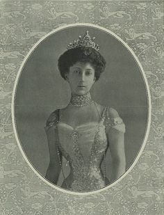 Princess Maud of the Netherlands, (Later Queen Maude of Norway) wearing a turn-of-the-century evening dress. Posted on the Alexander Palace Time Machine
